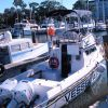 A yacht basin with a municipal vessel assistance craft. Photo
