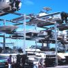 Small recreational fishing boats are stored on racks at the San Juan Bay Marina. Photo