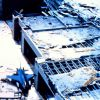 Hurricane Andrew - F-16 in repair shop left behind at Homestead Air Force Base Photo